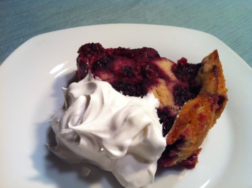 blackberry cobbler, healthy dessert